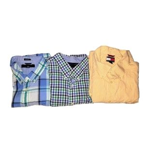 Bundle Of 3 Tommy Hilfiger Button Down Shirts